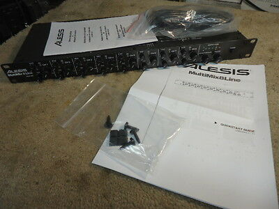 Alesis MultiMix 8 Line stereo audio mixer- New other