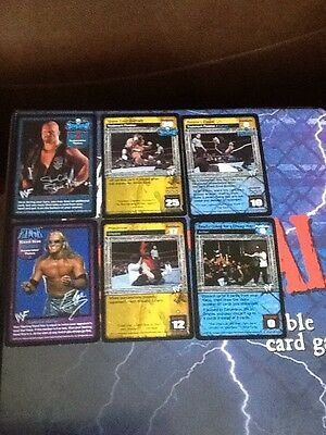 WWF WWE  Raw Deal Ccg Promo Cards x6 Includes Stone Cold Edge