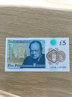New £5 Note - AA Serial Number