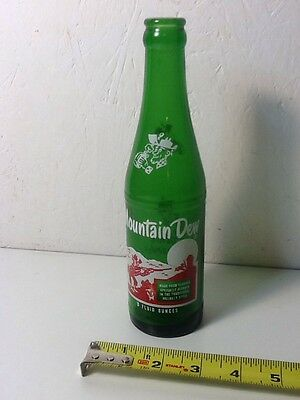 Vintage 10 Oz. Mountain Dew Hillbilly Bottle - Clean with Great Color!
