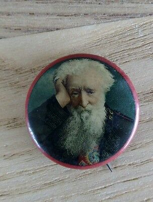 c1900 William Booth Salvation Army Chromolithographic Tin Badge