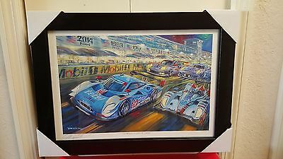 "Roger Warrick print -""Class of 2014 12 hours of Sebring print"" framed and signed"