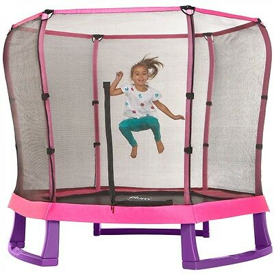 7ft Junior Jumper Trampoline and Enclosure - Pink & Purple - Plum
