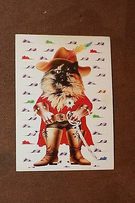 Rare Vintage Pocket calendar Russia 1992 Puss in Boots