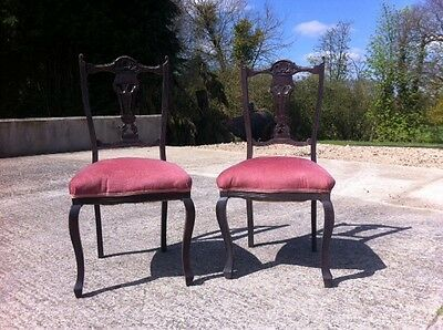 Edwardian reproduction dining chairs set of 4