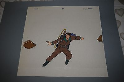 Peter - Original Real Ghostbusters Cartoon Animation Cel Cell & Sketch 1980s