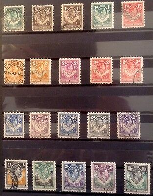 NORTHERN RHODESIA, George VI. Complete Set to 10s. Fine used. cat. £122.
