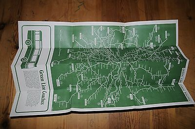 Vintage Green Line Coach Routes Map London Country Bus Services Reigate 1970s