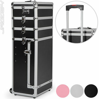 Travel Trolley Cosmetic Vanity Hairdresser Beauty Box Makeup Case Luggage Handle