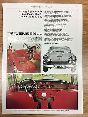 Original RARE 1964 JENSEN Motors Colour Vintage Car Advert L10