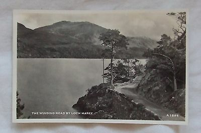 Vintage J.B.White Real Photo POSTCARD - WINDING ROAD BY LOCH MARE, Highlands