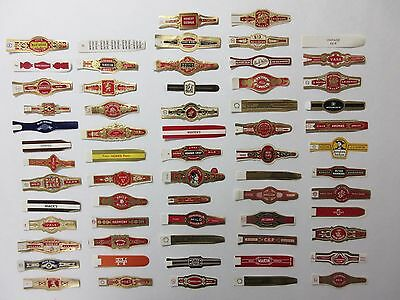 138+Old Cigar Band Labels Vintage Lot=All Different = Real Nice =