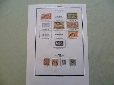 France - Collection of stamps 1900 to 1922