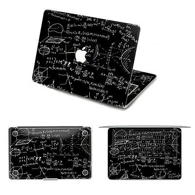 """Mathematical Sciences"" Sticker Decal for  Macbook Pro 15 (FULL BODY)"