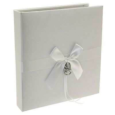 Ivory Double Heart Wedding Day Gift Photo Album