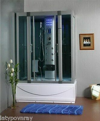 Steam Shower enclosure,Whirlpool and Termostatic,Heater,BLUETOOTH.US Warranty.