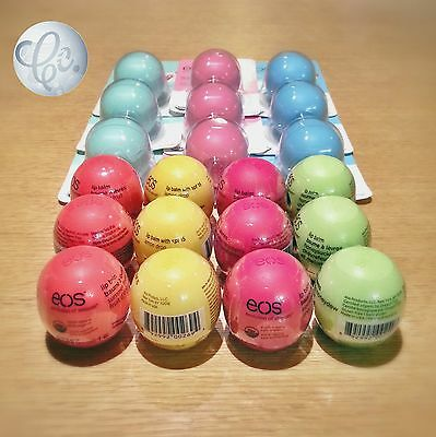EOS Organic Lip Balm Smooth Sphere lot of 6 Flavors