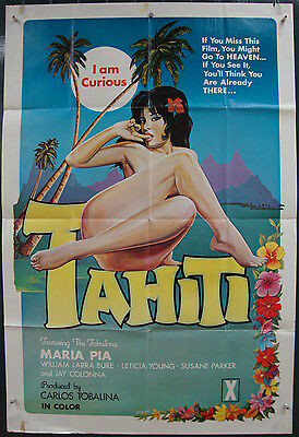 I Am Curious Tahiti-C.Tobalina-Sexploitation-Maria Pia-Art By Calera-OS (27x41)