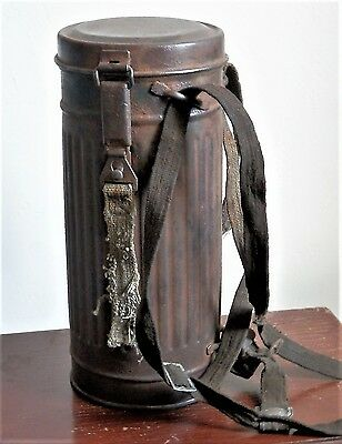1942 WW2 NAZI GERMAN MILITARY GAS MASK CONTAINER ( eve 1942 ) WAFFEN SS / WH.