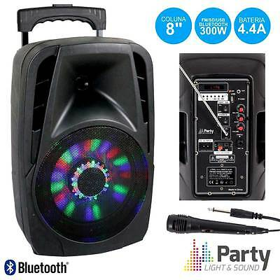 Sono portable Party-8led Party light Sound 150w