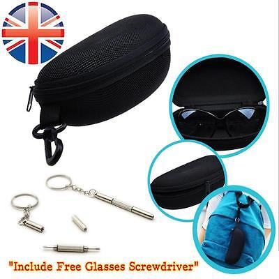 *UK Seller* Reading Glasses Sunglasses Hard Carry Case Zipper Travel Box Pouch