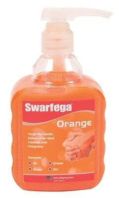 Deb Swarfega Home Workshop Garage Handwash Cleaner Pump Bottle - 450ml - Orange