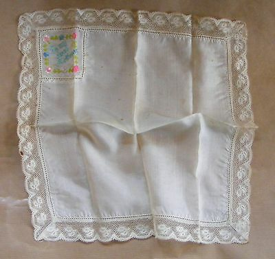 WWI First World War 1914 1918 Silk & lace To My Dear Mother Hankerchief