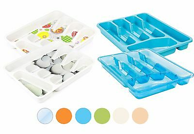 Assorted Colour Cutlery Tray Box Insert Cabinet Kitchen Drawer Storage Organiser