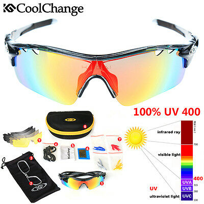 Interchangeable Anti-glare Polarized 5Lens Sport Sunglasses Skiing Cycling Bike
