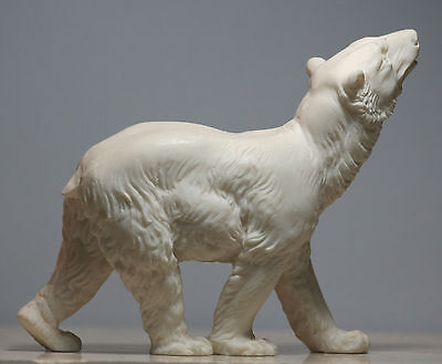 Polar Bear Animal Alabaster Statue Sculpture Figurine Decor Handmade 5.12΄΄