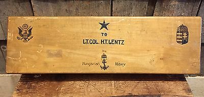 Original Presentational Box Case For Hungarian Navy Dirk Dagger To US Soldier!!!