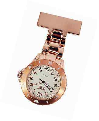 Watch Nurse Doctor Paramedic Tunic Brooch Fob Rose Gold Womens Mens Watches