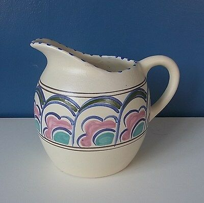 "LOVELY HONITON SMALL HAND PAINTED JUG ""MILTON"" - 4 7/8"" Tall"