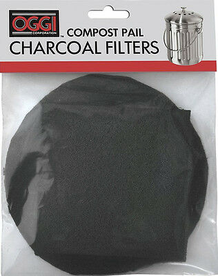 Oggi Replacement Charcoal Filters (Compost Pails #7320/5427/5448/7700) Set of 2