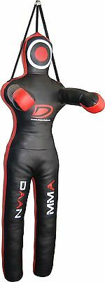 """QMUK Leather MMA Grappling Dummy Fighting Position with three streps 40"""""""
