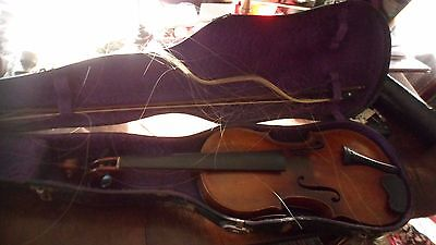 Antique Violin with Bow Sgn Joh. Bapt. Schweitzer Germany w Label & Case