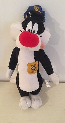 2001 Looney Tunes Police Officer Sylvester Plush Stuffed Animal