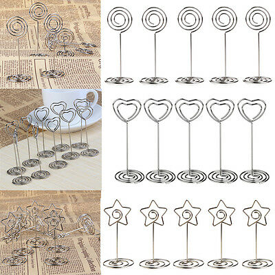 10/20 Wedding Favors Place Card Holder Table Photo Memo Number Name Clips Base