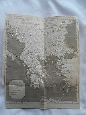 Rare Ancient History Map- Mr.d'anville-1740-Greece With The Northern Provinces