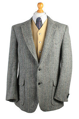 Harris Tweed Men's Vintage Jacket Grey Blazer Country Hacking 44'' HT1022
