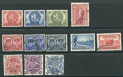 Australia: 1934-48 Early selection sets & singles to £1 Fine Used GG194