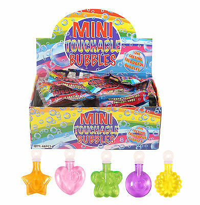 MINI TOUCHABLE BUBBLES Tubs Birthday Party Loot Bag Fillers Childrens Toys Kids