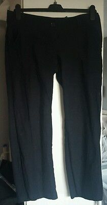 size 14 petite black linen maternity trousers from next