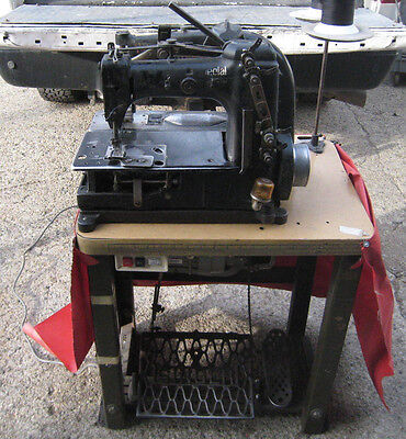Vintage Union Special 51900KZ Double Industrial Sewing Machine w/ SEWING TABLE