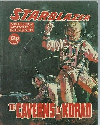 The Caverns Of Korad,no.17,starblazer Space Fiction Adventure In Pictures,comic