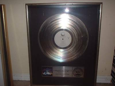 Asia Yes Riaa Platinum Record Award Asia  Heat Of The Moment/only Time Will Tell
