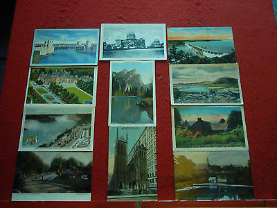 35 Old Postcards Canada and USA Topo
