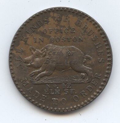 Hard Times Token HT181 (#6329) John Adams, Taunton, MA. Unc. With Tinges of Lust