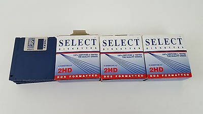 """29 SELECT 3.5"""" DISKETTES - 2mb - 1.44 - High Denisty 2HD Formatted & Extras"""