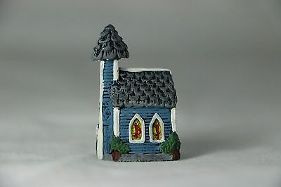 Hand Painted Pewter Thimble Of Church Chapel
